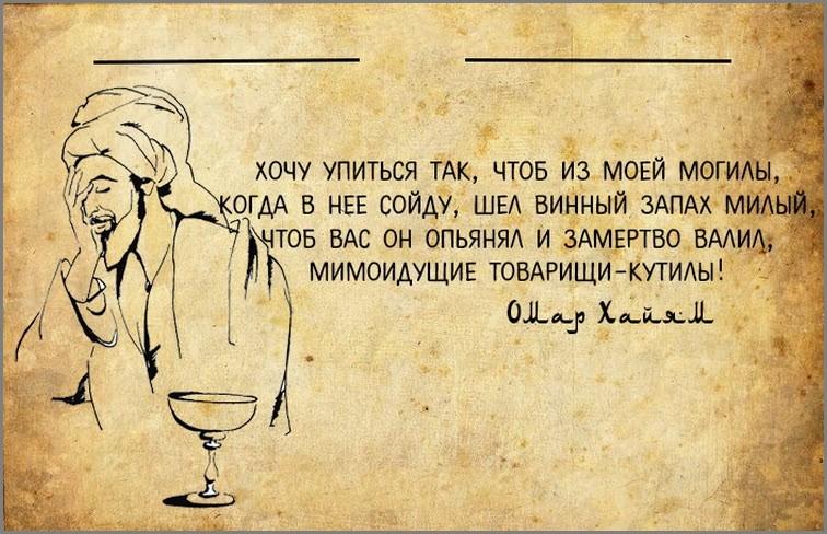 Омар Хайям про вино