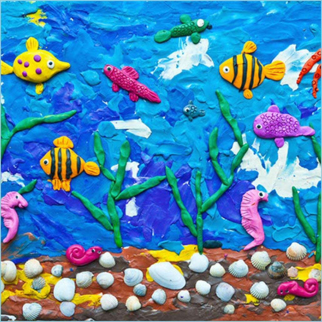 пластилинография аквариум