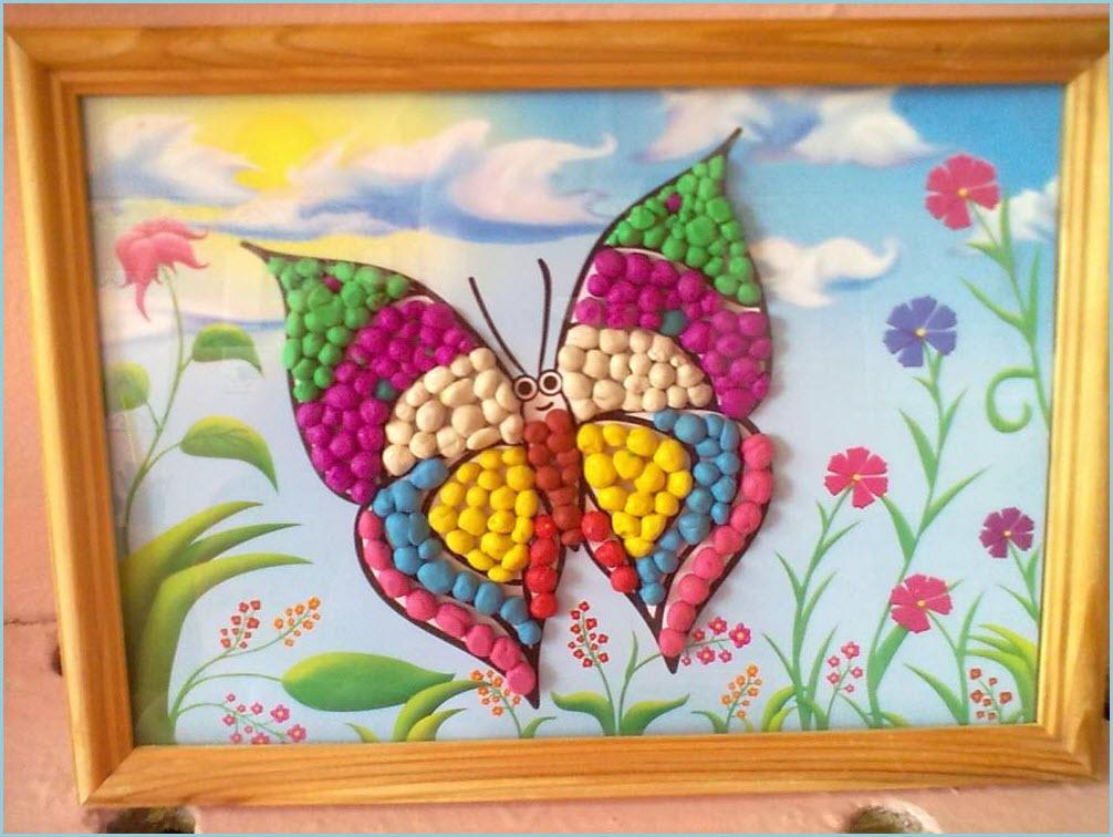 пластилинография бабочки