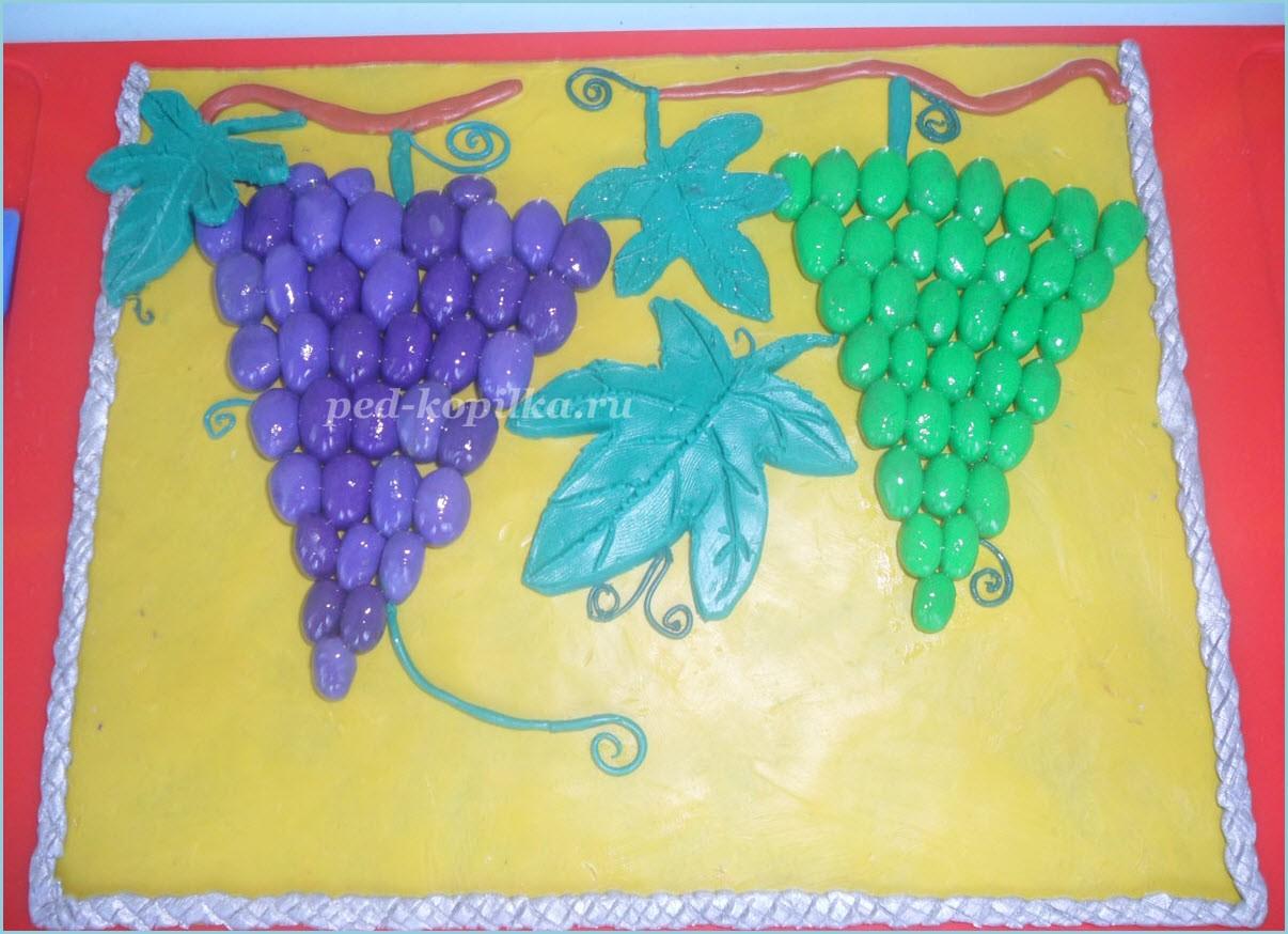 пластилинография виноград