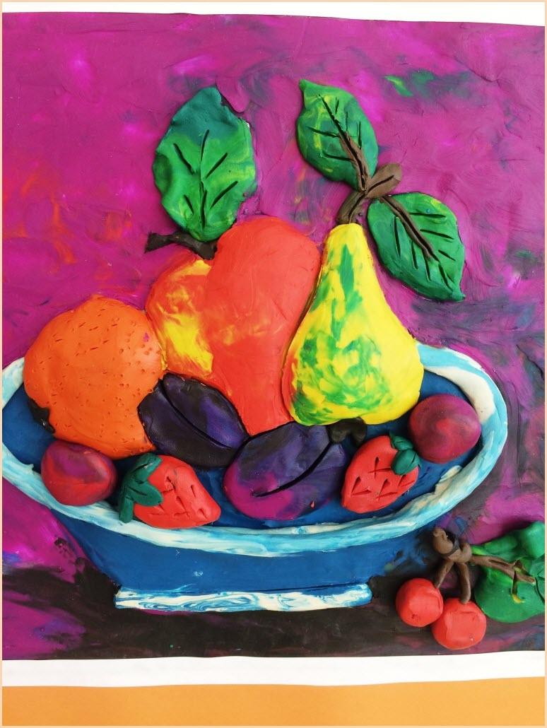 пластилинография фрукты