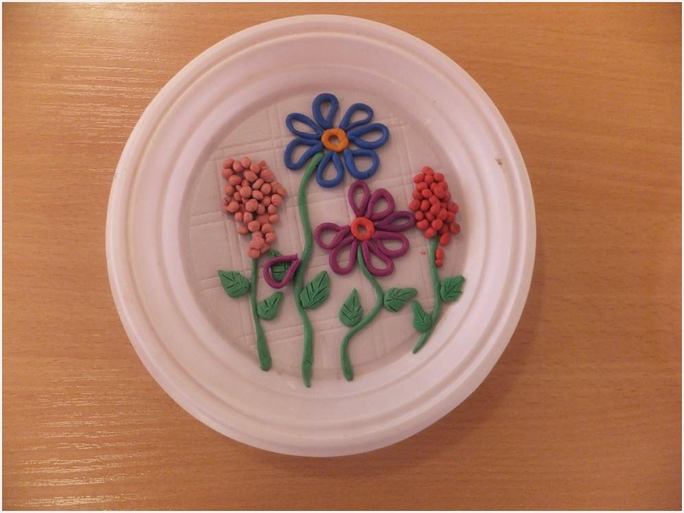пластилинография цветы 3
