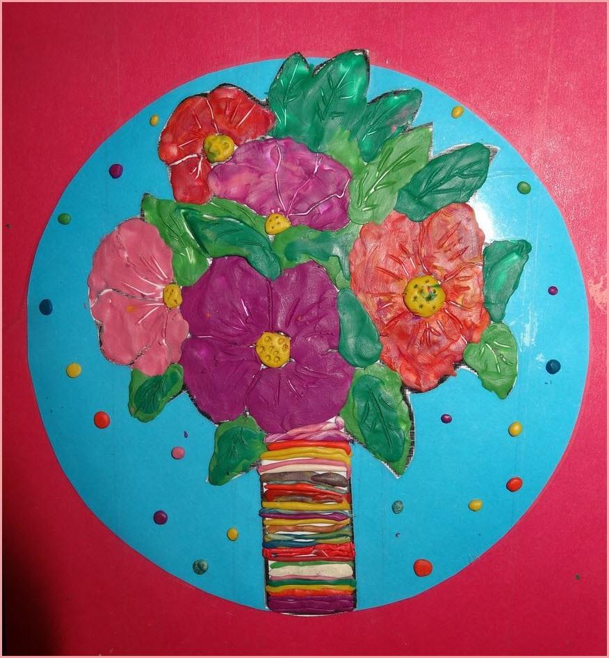 пластилинография цветы 2
