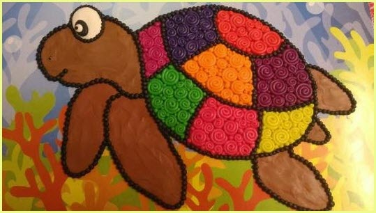 пластилинография черепаха