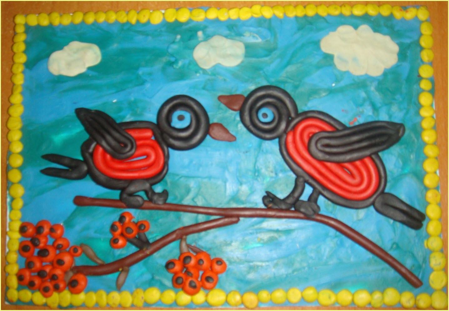 пластилинография птицы