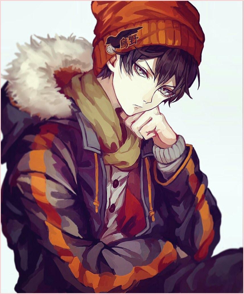 грустный мальчик аниме