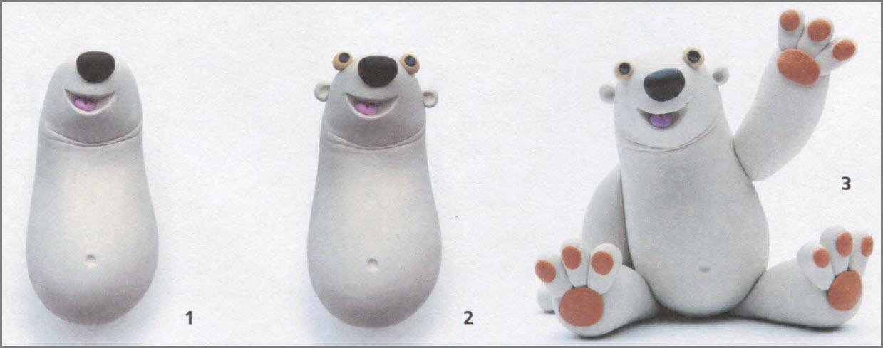 медведь из пластилина