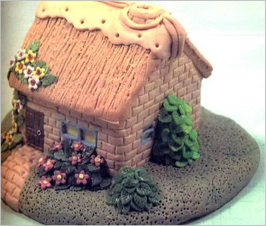дом из пластилина