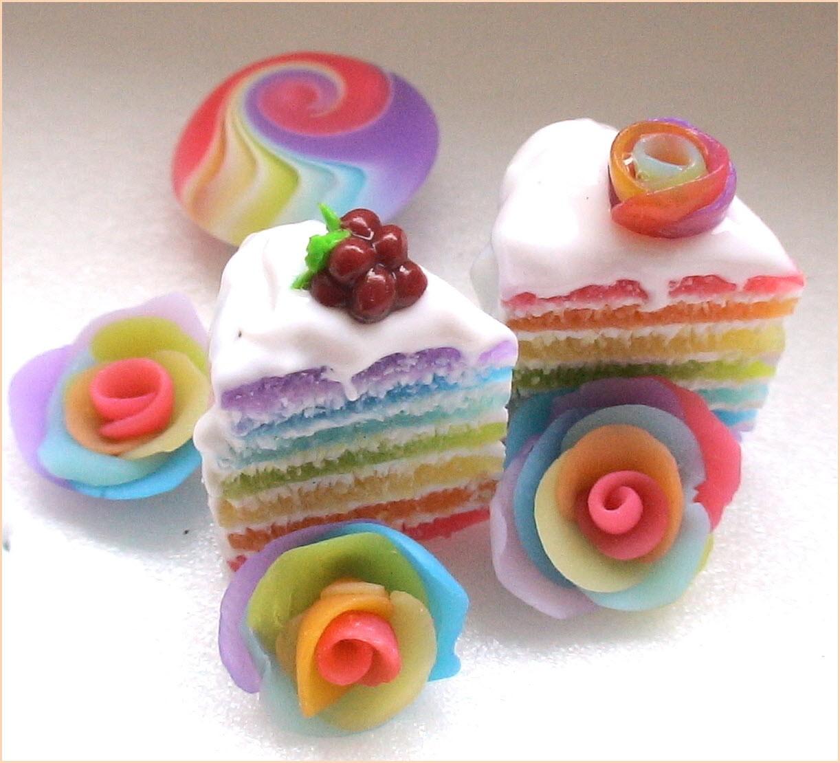 пирожные из пластилина