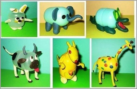 фигурки из пластилина животных