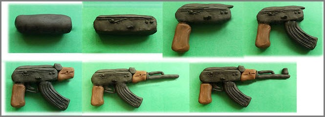 оружие из пластилина 3