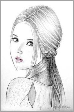 лицо девушки рисунок 2