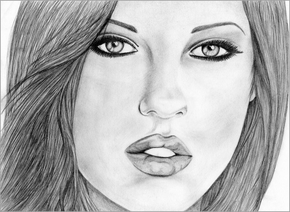 лицо девушки рисунок 3