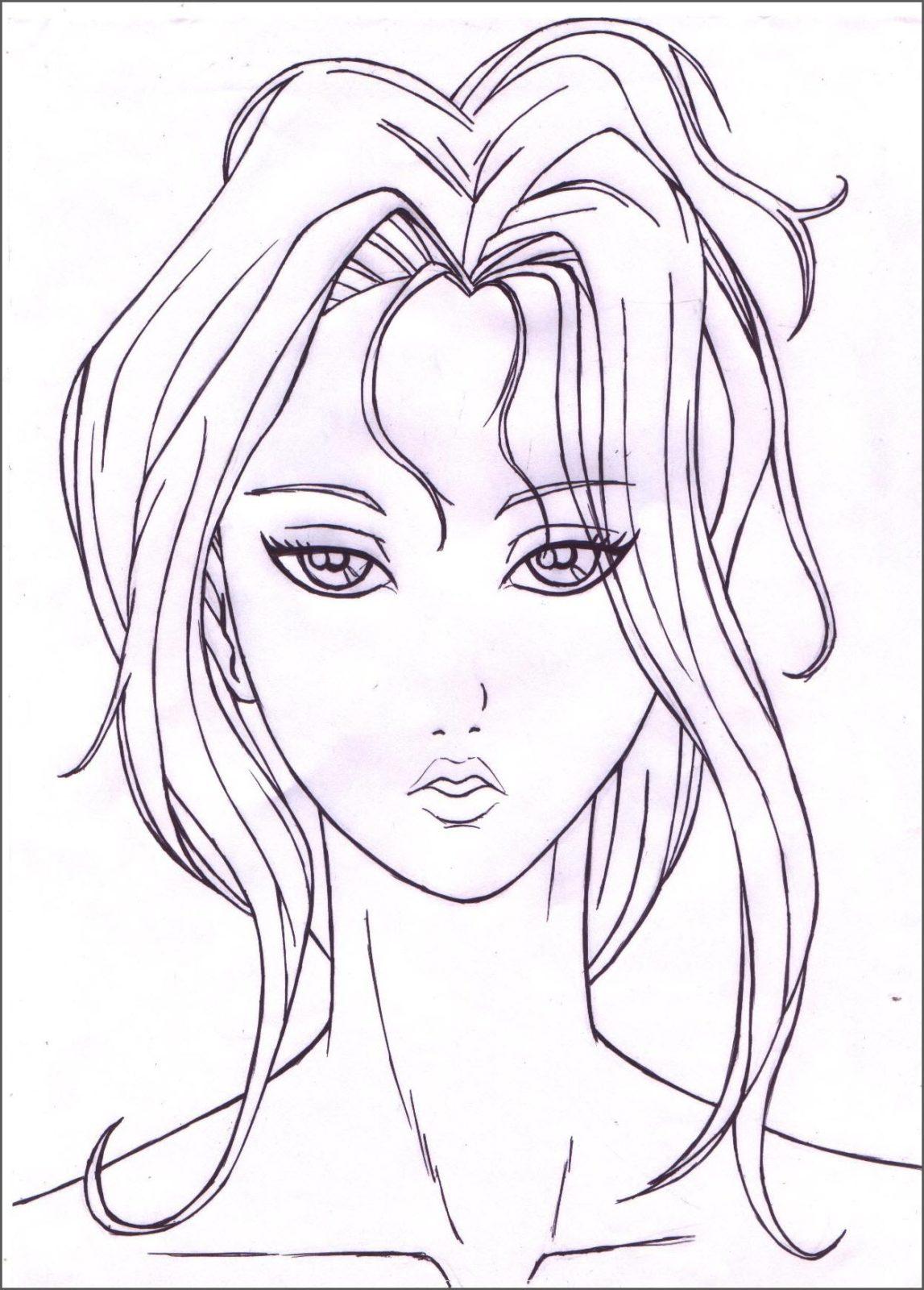 портрет девушки для срисовки