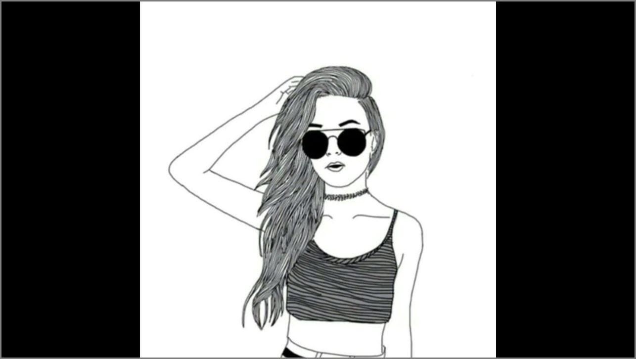 девушка в тёмных очках