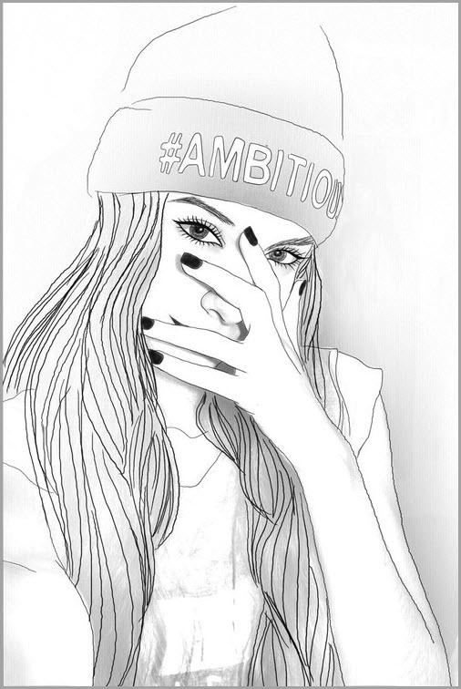 девушка тумблер 3