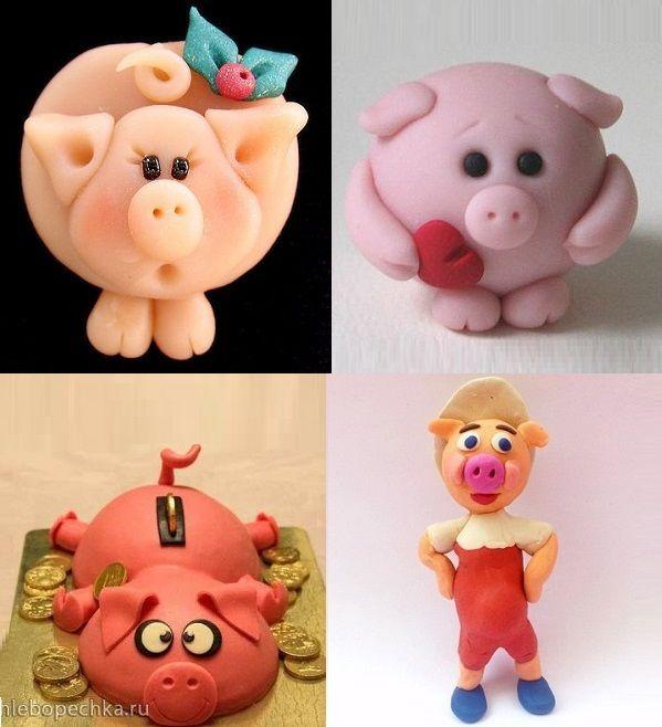 свинки из пластилина