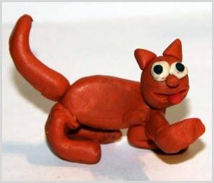 котёнок из пластилина 3