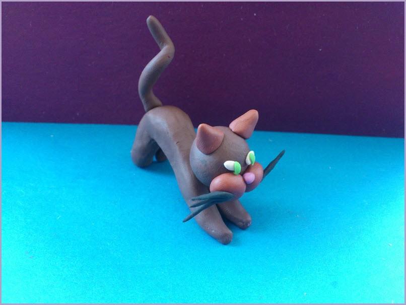 кот из пластилина 3
