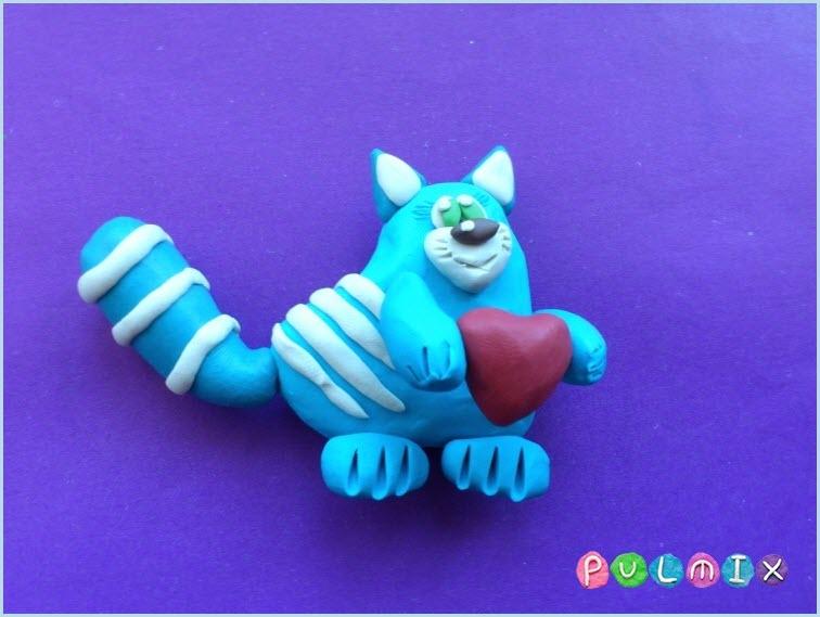 Кот из пластилина 6
