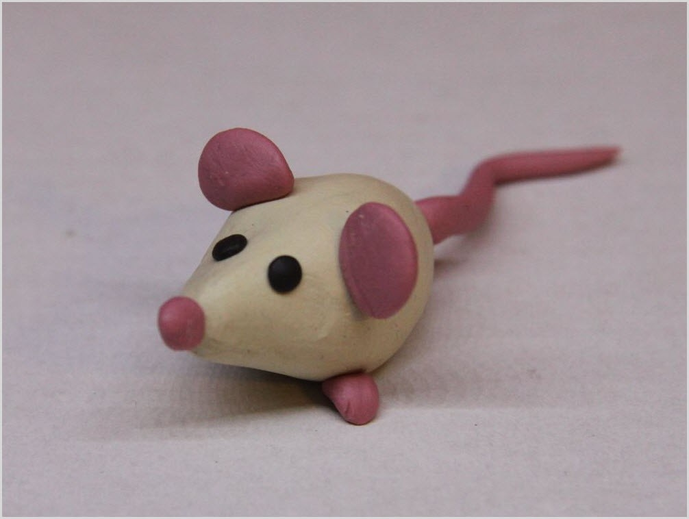 мышка из пластилина 3