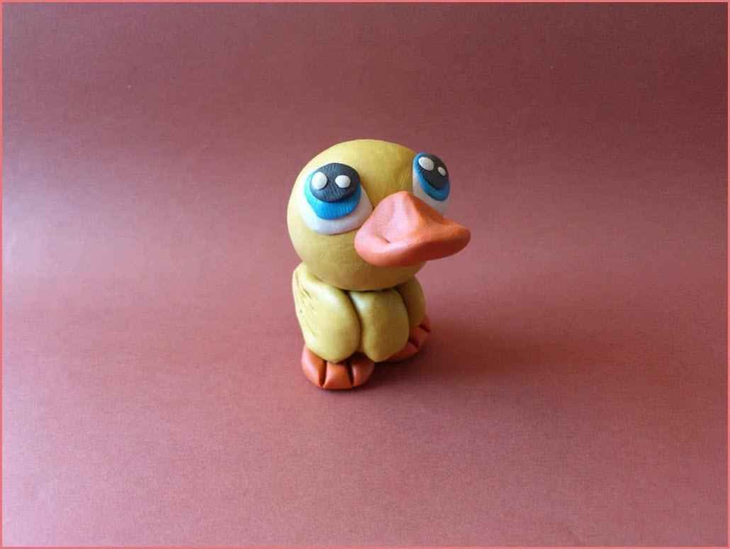 утка из пластилина 2
