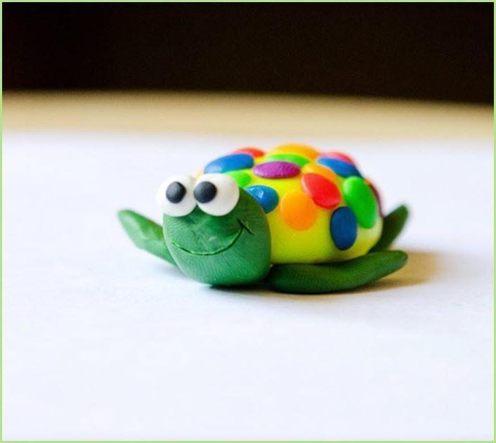 черепаха из пластилина 3