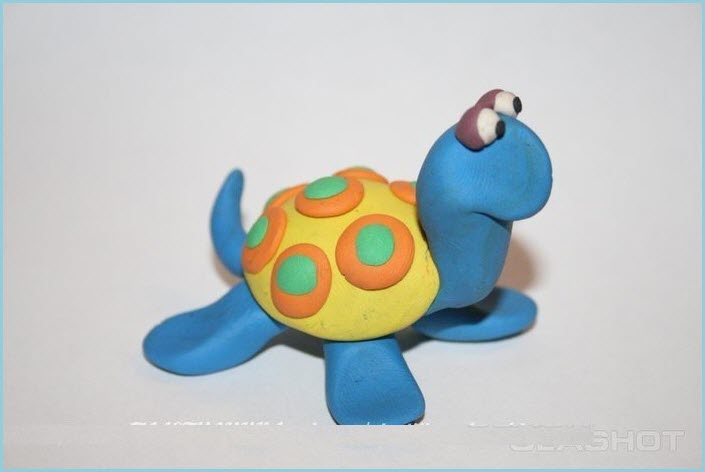 черепаха из пластилина 4