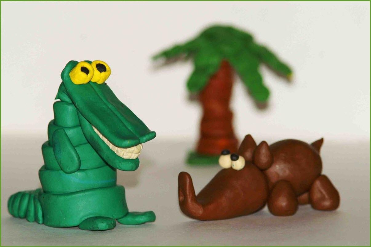 крокодил из пластилина 2