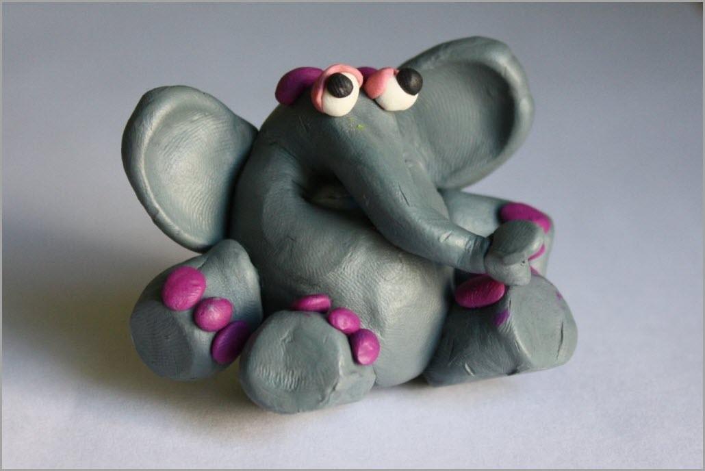 слон из пластилина 3