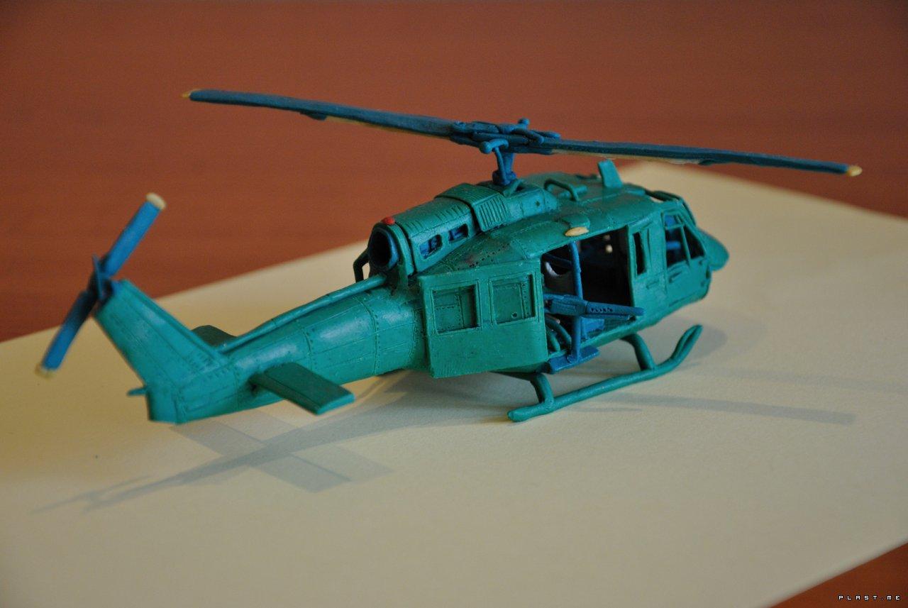 Из пластилина вертолёт