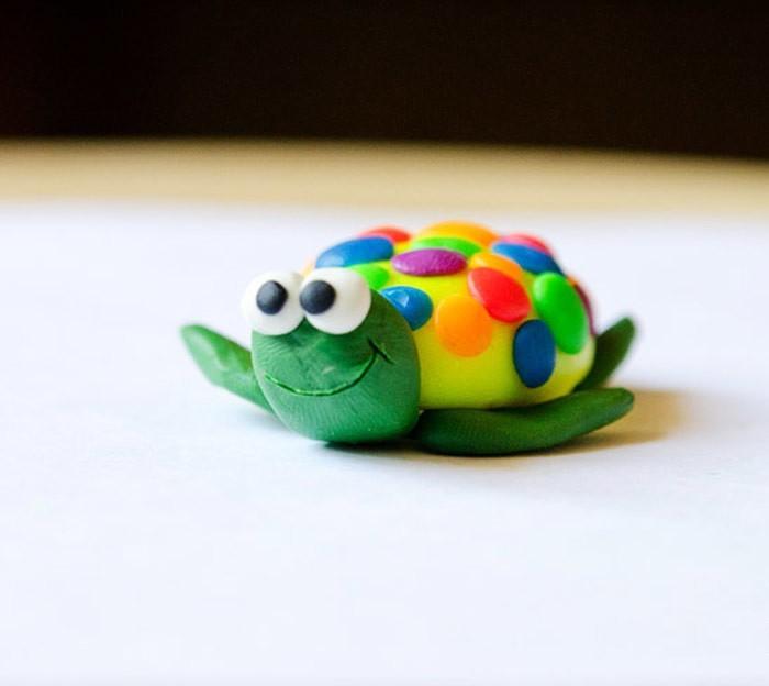 из пластилина черепаха