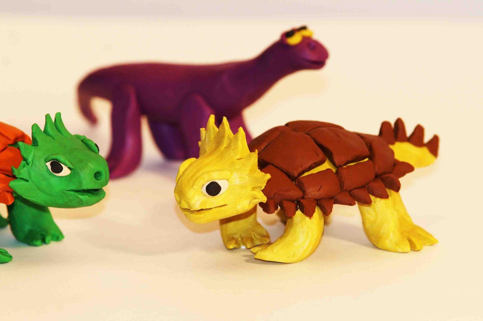 из пластилина динозавры