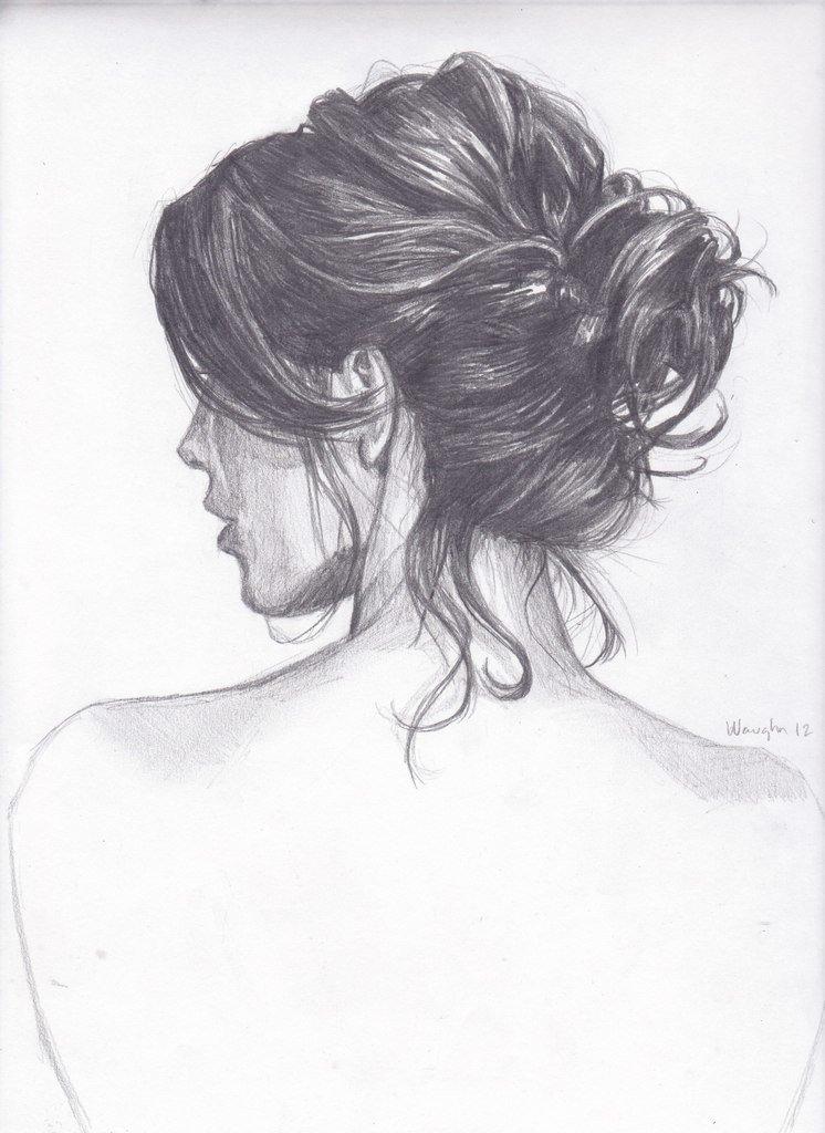 Девушка со спины рисунок 31