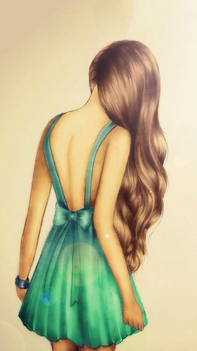 Девушка со спины в платье 43