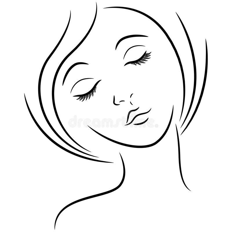 Рисунок спящёй девушки 5