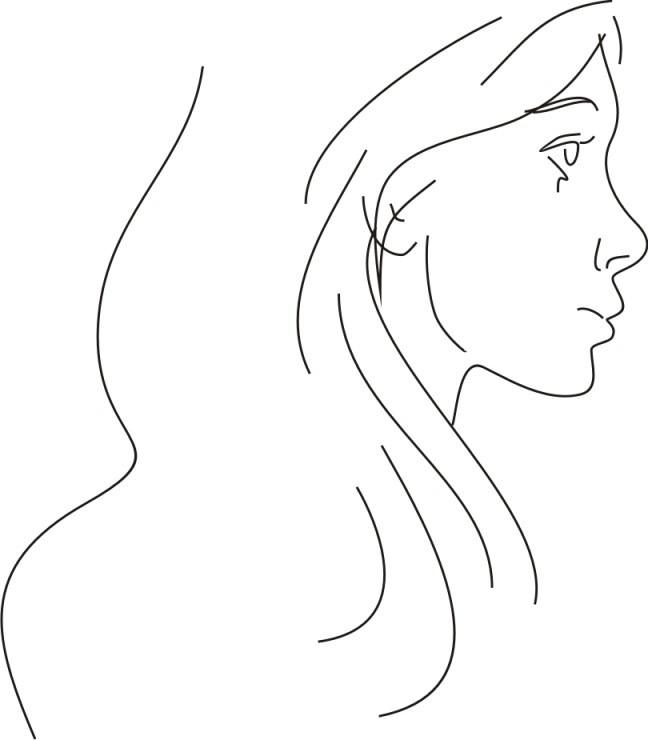Легкий рисунок девушки 10