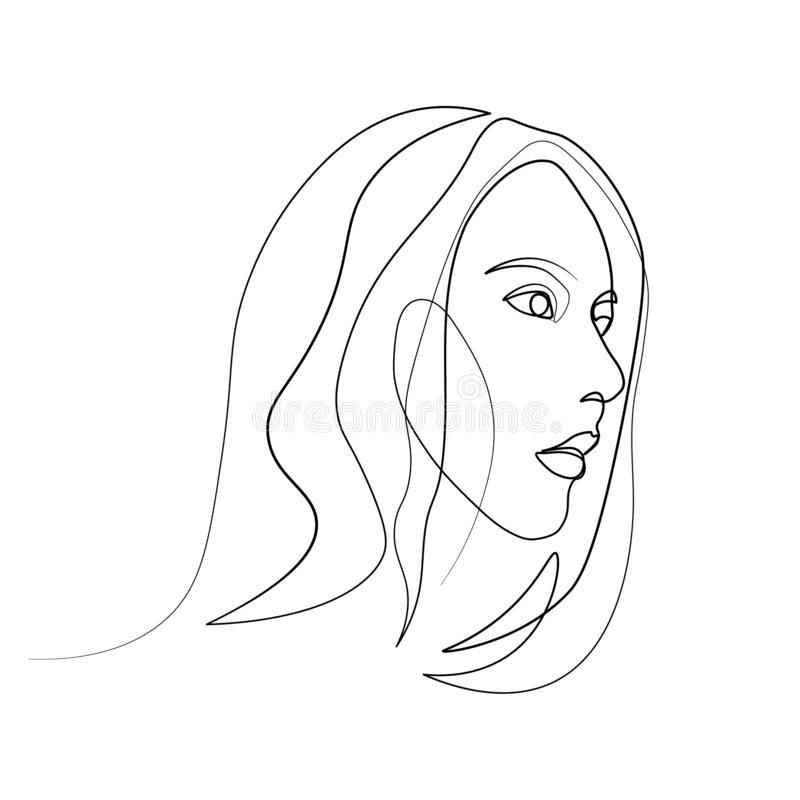 Простой рисунок девушки 56