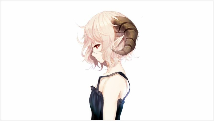 аниме девушки в профиль
