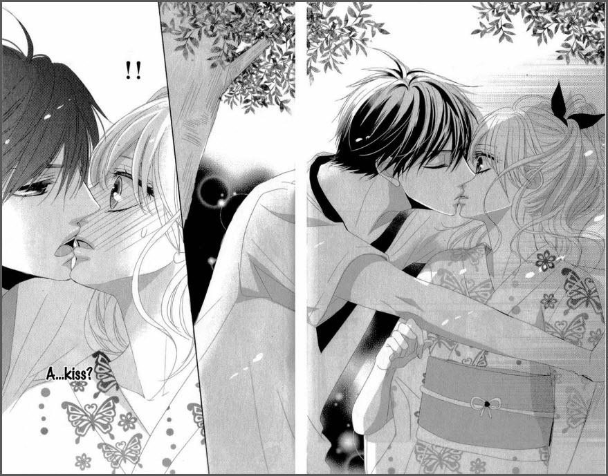 манга романтика с поцелуем 5