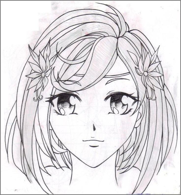 лицо аниме девушки
