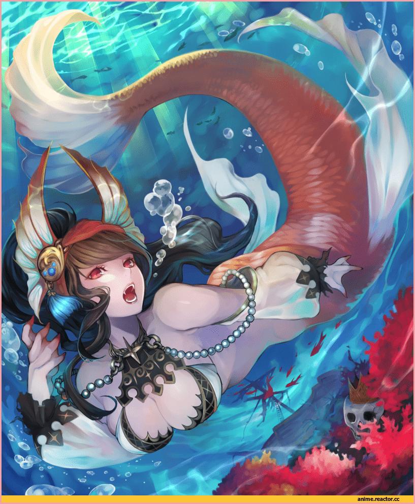 аниме русалка