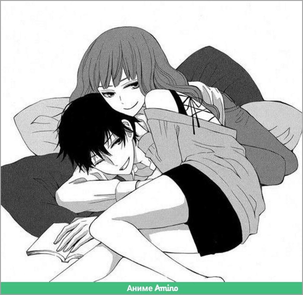аниме любовь в постели