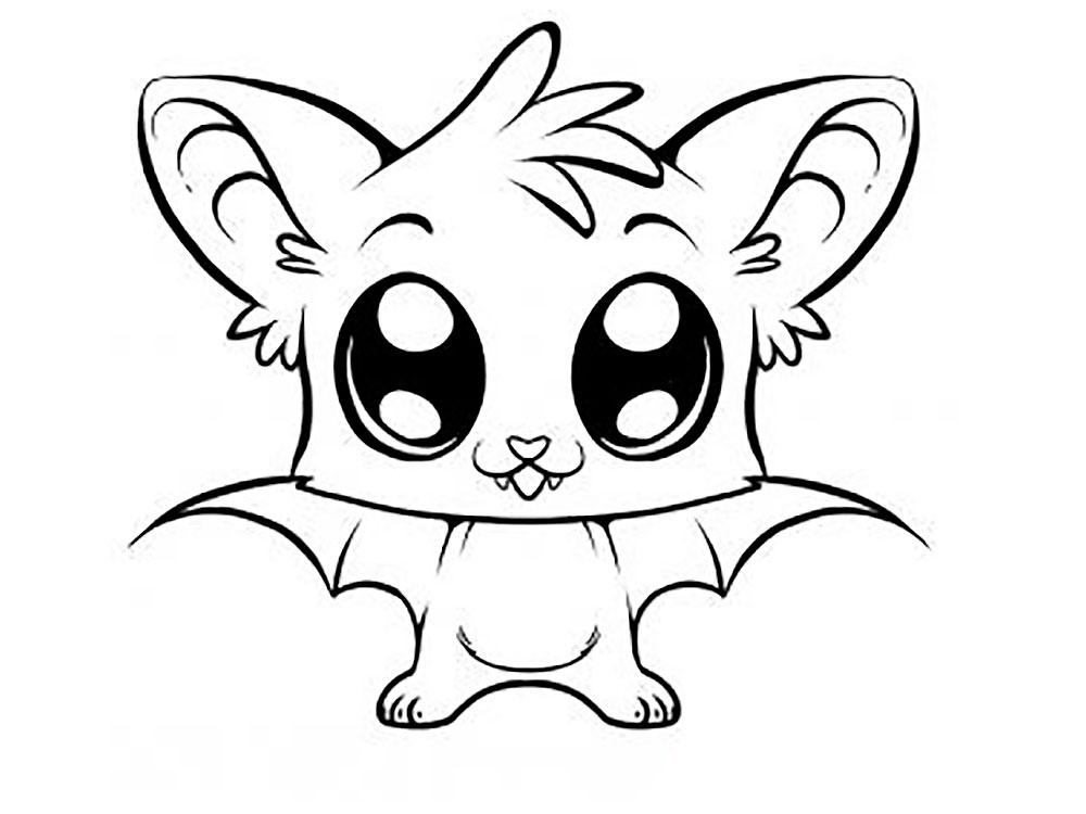 летучая мышь для срисовки
