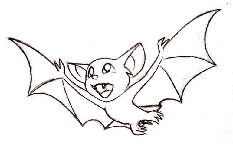 летучая мышь рисунок