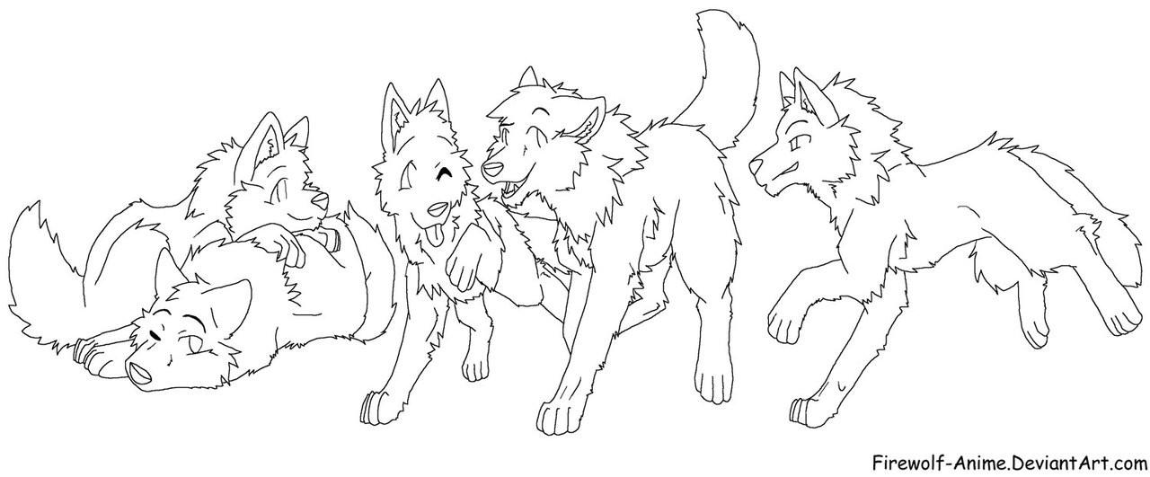 аниме волки 2
