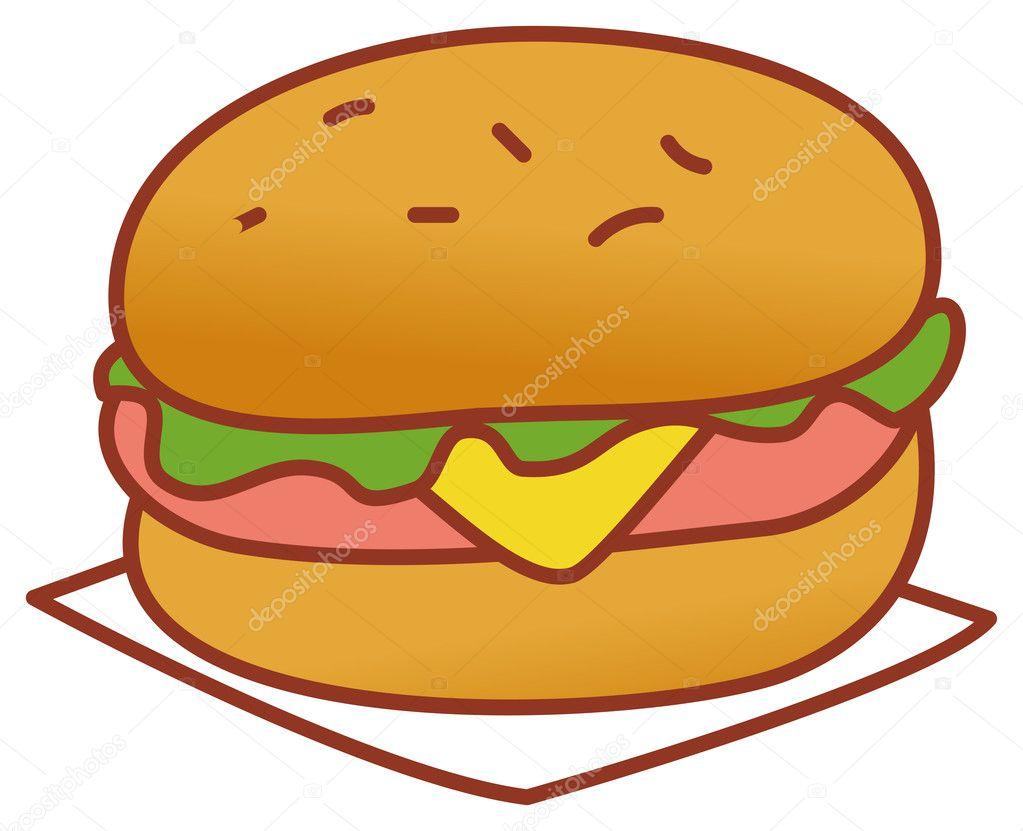 гамбургер мультяшный