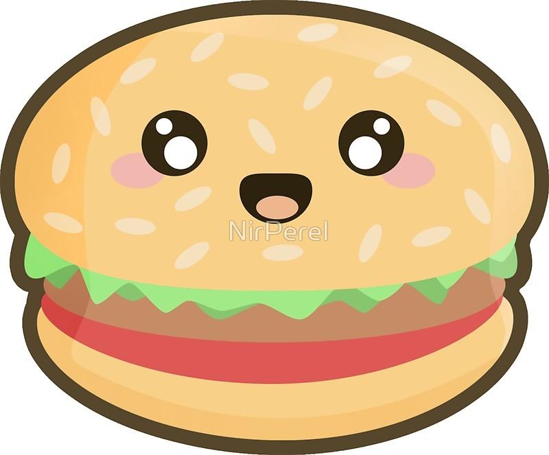 стикер гамбургер