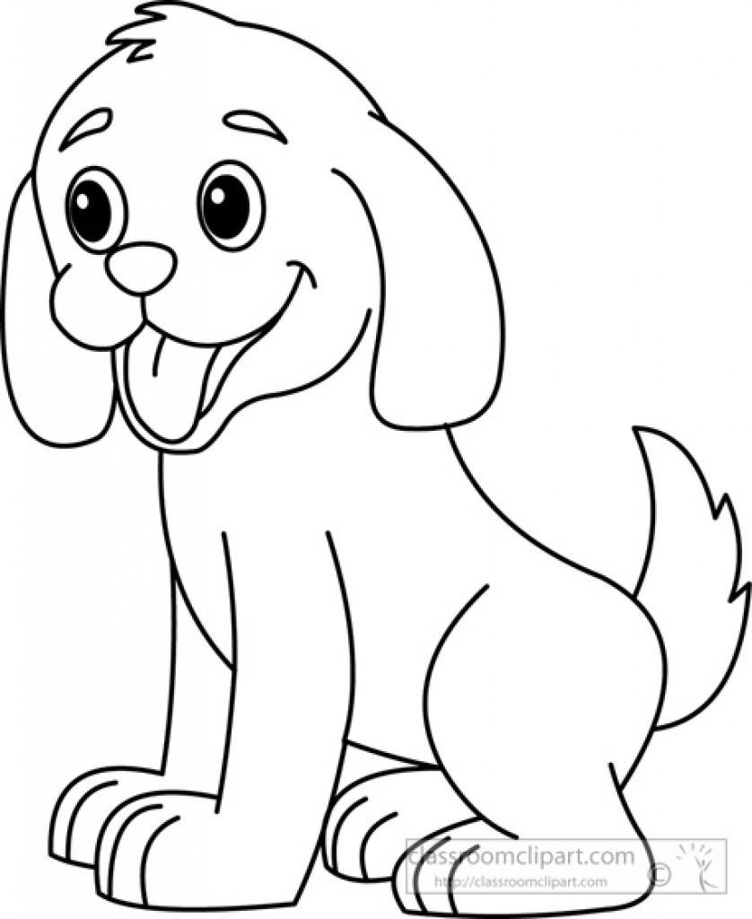 лёгкий рисунок собаки