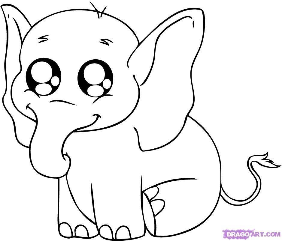 лёгкий рисунок слон
